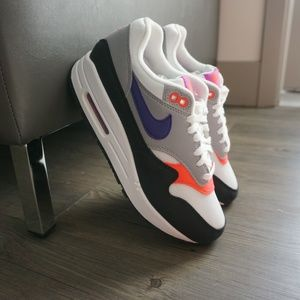 "Nike Womens Air Max 1 ""Raptors"" White Grey NWB"